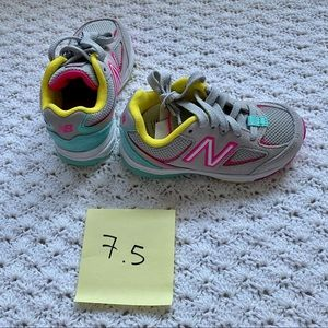 New Balance kids' 888v2- grey with rainbow